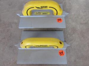 "(2) Gator GF10826  3/8"" W x 1"" D x 1/4"" R Double, 8""x10"" Hand Groover"