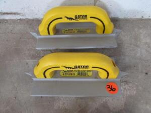 "(2) Gator GF10819  3/8"" W x 3/4"" D x 1/4"" R Double, 4""x8"" Hand Groover"