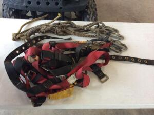 Lot of 2 safety harness and lanyards