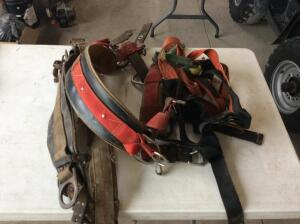 Lot of misc harness and climbing belts.