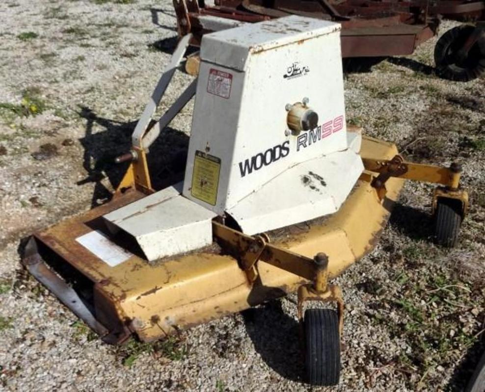 Woods Rear Mount Finish Mower Model RM59-2, 540 RPM PTO Only