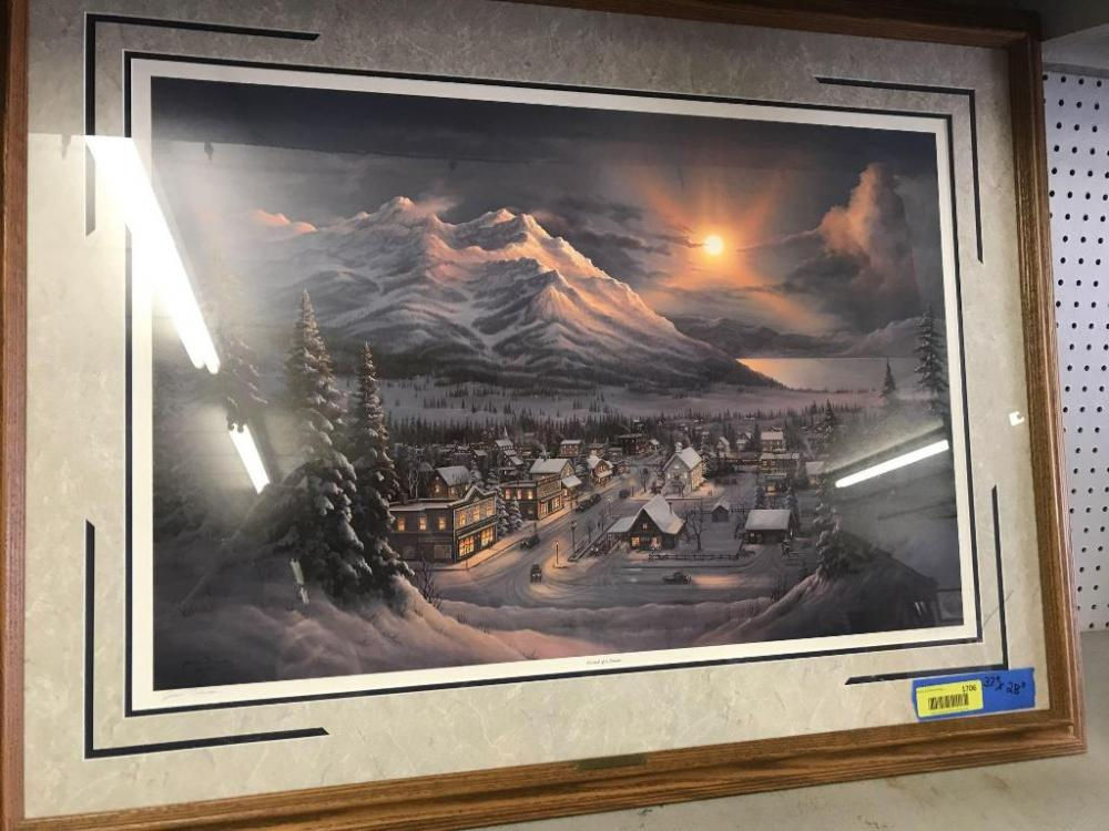 Jesse Barnes Signed And Numbered Print Pursuit Of A Dream 37 X 28