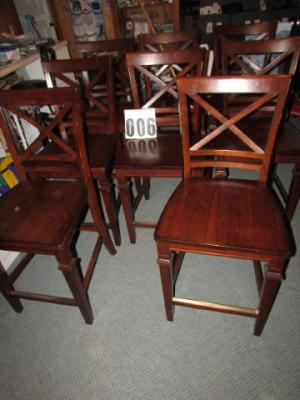 Solid wood high chairs, 8 in set
