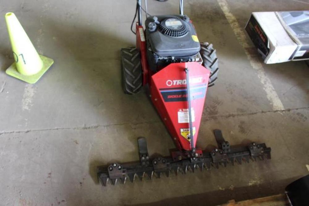 Lot 67troy Bilt Sickle Bar Mower 42 Width Briggs Stratton 5hp Gas Engine