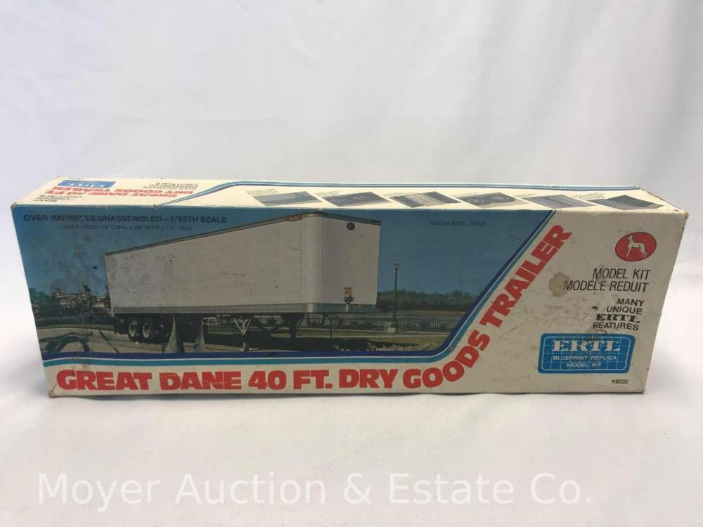 Vintage Ertl Great Dane Dry Goods Trailer Model Kit