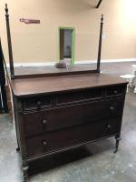 "Antique Dresser with Mirror - Very Nice!! 49"" wide, 23"" deep, 68"" tall"