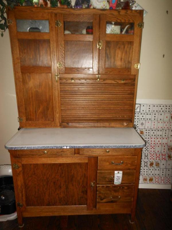 Prime Oak Hoosier Cabinet With Brass Hardware Does Not Include Interior Design Ideas Philsoteloinfo