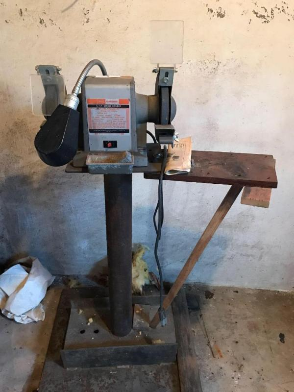 Phenomenal Sears Craftsman 1 2 Hp Bench Grinder Evergreenethics Interior Chair Design Evergreenethicsorg