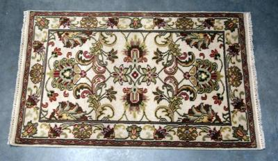 "1990's Tabriz Authentic 100% Hand Knotted Persian Rug, Wool, Floral Medallion Design, 175+ Knots per Square Inch, 5'1"" x 3'3"", Some Wear, See Photos"