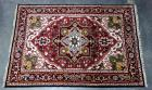 "Heriz Serapi Authentic 100% Hand Knotted in Iran Persian Rug, 100% Wool, 100 Knots per Square Inch, Floral Medallion Design, 6'0"" x 3'9"", See Photos"