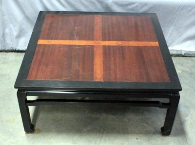 "Ming Style Coffee Table, Inlay Wood Accent, 38.5"" x 17"" x 38"""