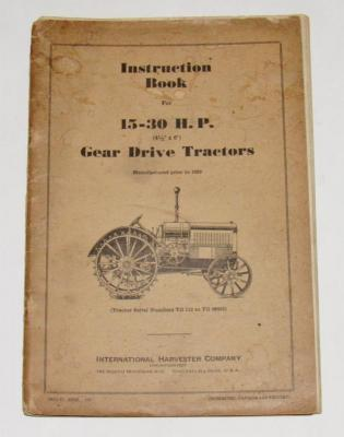McCormick Deering 15-30 Instruction Manual