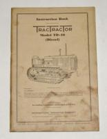 McCormick-Deering TracTractor TD-40 Diesel Instruction Manual